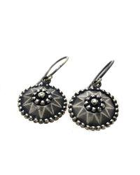 Bottega Veneta - Metallic Silver Earring Flower Motif - Lyst