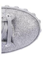 Moncler - Metallic Sneakers Ss18 Silver Glitter Sneakers - Lyst