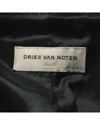 Dries Van Noten - Sheepskin Coat Black 36 - Lyst