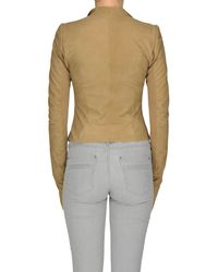 Rick Owens - Brown Leather Jacket - Lyst