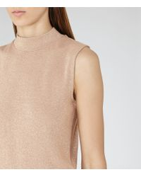 Reiss - Blue Mar Metallic Sleevless Knit - Lyst