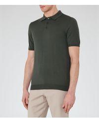 Reiss | Green Manor Merino Wool Polo Shirt for Men | Lyst