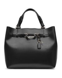 Reiss | Black Bleecker Hardware Detail Tote Bag | Lyst