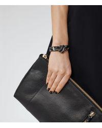 Reiss - Black Coralie Twist-detail Cuff - Lyst