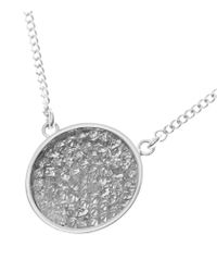 Reiss - Metallic Illie Drop Pendant With Crystals From Swarovski - Lyst