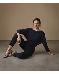 Reiss - Blue Ania - Open-back Jumpsuit - Lyst