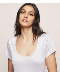 Reiss Gray Kelly - Scoop-neck T-shirt
