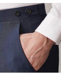 Reiss - Blue Dissolve - Modern Fit 3 Piece Suit for Men - Lyst