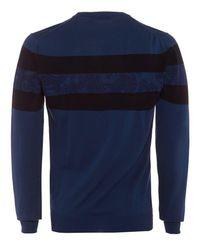 Etro - Striped Jumper, Navy Blue Paisley Knitwear for Men - Lyst