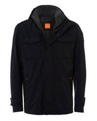 BOSS Orange - Onick Military Styled Water Repellent Black Jacket for Men - Lyst