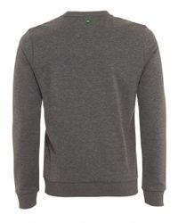 BOSS Athleisure - Gray Salbo Sweatshirt, Melange Grey Logo Jumper for Men - Lyst