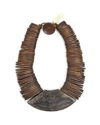 Weekend by Maxmara - Gamma Brown Wooden Necklace - Lyst