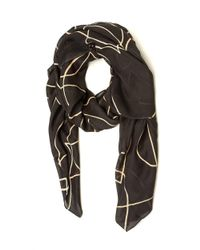 Armani - Gray Heart Outline Pattern Grey Beige Scarf - Lyst