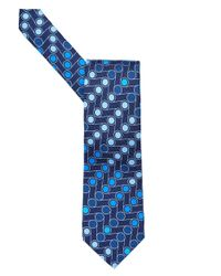 Etro - All Over Assorted Blue Dots Print Tie, Silk Blue Tie for Men - Lyst