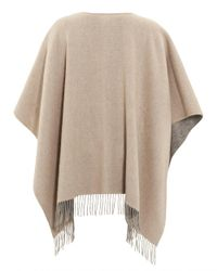 Fraas | Gray Reverse Bicoloured Woollen Grey Camel Poncho | Lyst