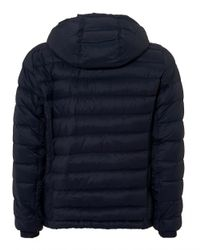 BOSS Orange - Blue Obaron Puffa Jacket, Water Repellent Navy Coat for Men - Lyst