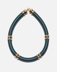 Lizzie Fortunato   Blue Double Take Necklace In Dark Green   Lyst