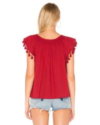 The Great - Red The Tassel Flutter Top - Lyst
