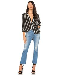 1.STATE - Black High-low Pocket Blouse - Lyst