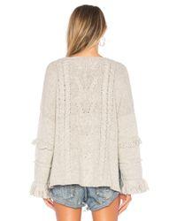 One Teaspoon - Gray Jethro Fringed Knit Sweater - Lyst