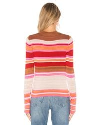 Free People - Red Show Off Your Stripes Tee - Lyst