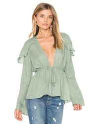 Stone Cold Fox | Green Schiffer Blouse | Lyst