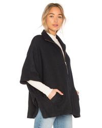 Bobi - Blue Sweater Rib Cape - Lyst
