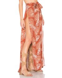 Somedays Lovin - Orange Tigress High Split Maxi Skirt - Lyst