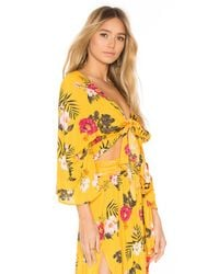 Agua Bendita - Yellow Angie Crop Top - Lyst