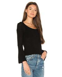 Callahan - Black Waffled Bell Sleeve Sweater - Lyst