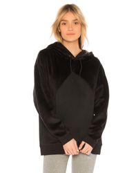 PUMA | Black Fabric Block Hoodie | Lyst