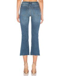 Free People - Blue Cropped Button Front Jean - Lyst