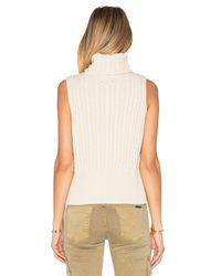 525 America - Black Cable Rib Sleeveless Crop Sweater - Lyst