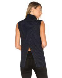 525 America | Blue Sleeveless Turtleneck Sweater | Lyst