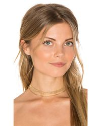 Vanessa Mooney - Metallic Hitchhiker Choker - Lyst