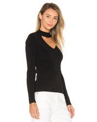 Autumn Cashmere | Black Mock Neck V Sweater | Lyst