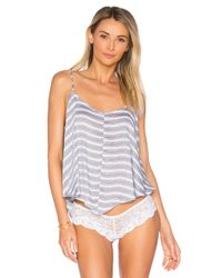Free People - Blue Crossroads Cami Striped - Lyst