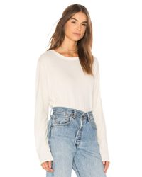 The Great - White The Crop Tee - Lyst