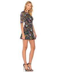 Saloni - Multicolor Celia Dress In Black - Lyst