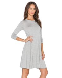 Blq Basiq - Gray Stretch-Jersey Swing Dress - Lyst