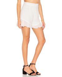 Lioness - White All Summer Long Linen Shorts - Lyst