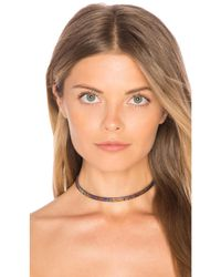 Vanessa Mooney | Metallic Skylar Choker | Lyst