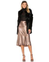 Adrienne Landau | Black Rabbit Fur Coat | Lyst