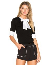 Alice + Olivia | Black Ciel Tie Neck Sweater | Lyst