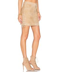 Anine Bing - Natural Lace Up Skirt - Lyst