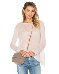 Autumn Cashmere | Purple Hanky Hem Boatneck Sweater | Lyst