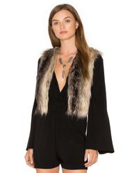 BB Dakota | Multicolor Jack By Loree Faux Fur Vest | Lyst