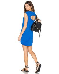 Bobi - Blue Supreme Jersey Cut Out Shift Dress - Lyst