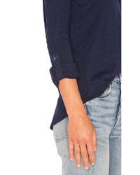 Bobi - Multicolor Slubbed Jersey 3/4 Sleeve Top - Lyst