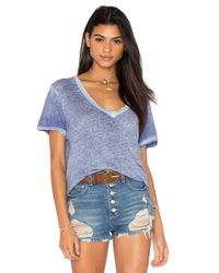 Current/Elliott - Purple The V Neck Tee - Lyst